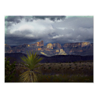 Storms Over Maderas Del Carmen Poster