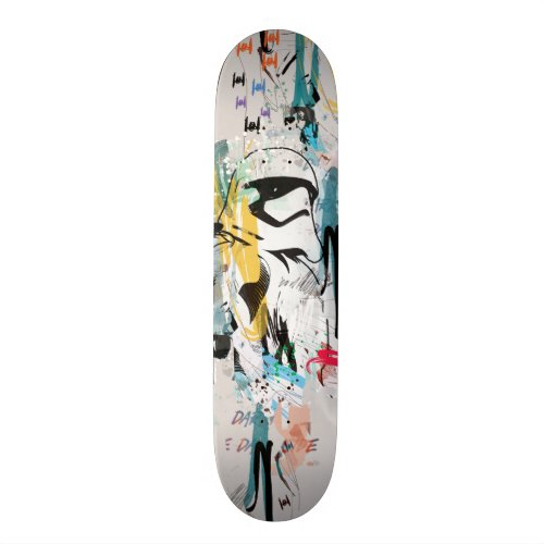 Stormtrooper Graffiti Collage Skateboard