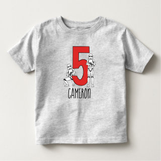Stormtrooper - Happy Fifth Birthday Toddler T-shirt