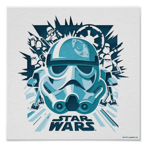 Stormtrooper Paper Cut_Out Collage Poster