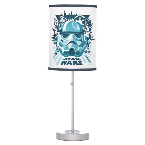 Stormtrooper Paper Cut_Out Collage Table Lamp