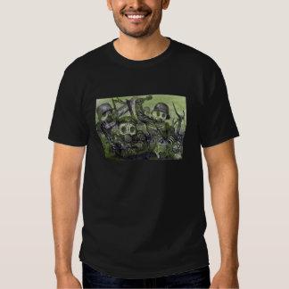 Stormtroops que avanza bajo gas en WW1 Remera