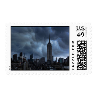 Stormy afternoon skies: Empire State Building Postage