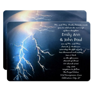 Stormy and Passionate Wedding Invitations
