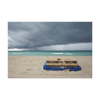 Stormy beach canvas print