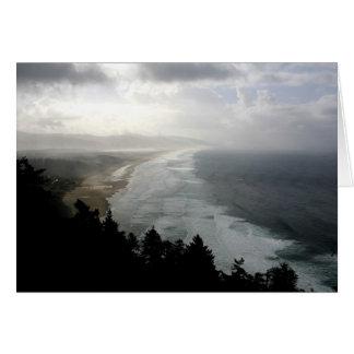 Stormy beach card
