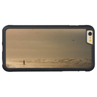 Stormy beach. carved maple iPhone 6 plus bumper case