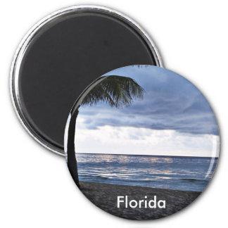 Stormy Beach, Florida 2 Inch Round Magnet