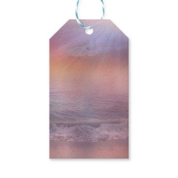 Beach Themed Stormy Beach Lavender Peach dove ocean tags