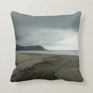 stormy beach pillow