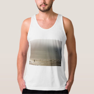 Stormy beach. tank top