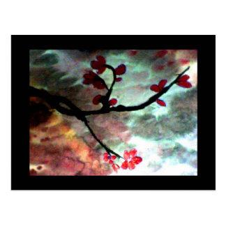 Stormy Blossom Postcard