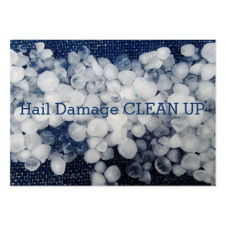 Stormy Blue Seasonal Hail Damage Clean Up Large Business Cards (Pack Of 100)