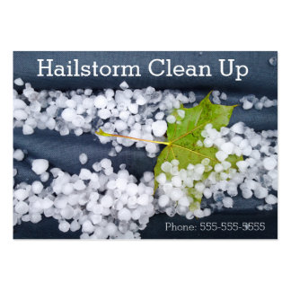 Stormy Blue Seasonal Hailstorm Damage Clean Up Large Business Cards (Pack Of 100)