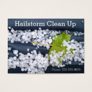 Stormy Blue Seasonal Hailstorm Damage Clean Up Business Card