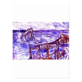 Stormy Brighton Postcard