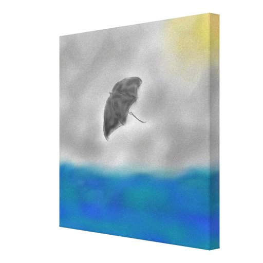 Stormy Canvas Panel Stretched Canvas Print