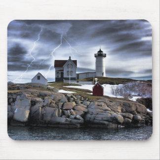 "Stormy Cape Neddick ""Nubble"" light house Mouse Pad"