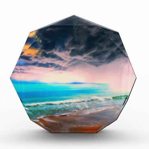stormy castaway acrylic award