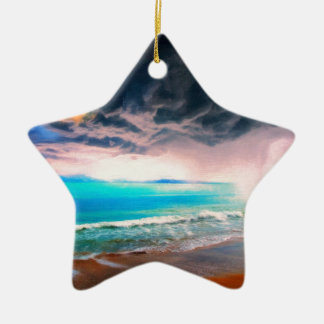 stormy castaway ceramic ornament