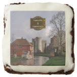 Stormy Castle And River Personalized Wedding Chocolate Brownie