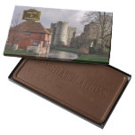 Stormy Castle And River Personalized Wedding Milk Chocolate Bar