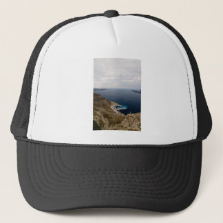 Stormy clouds over the sea trucker hat