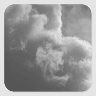 Stormy Clouds Square Sticker