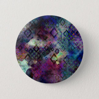 Stormy colorful watercolor abstract w/ diamonds button