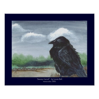 """Stormy Corvid"" Poster"