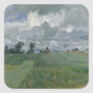 Stormy Day, 1897 Square Stickers