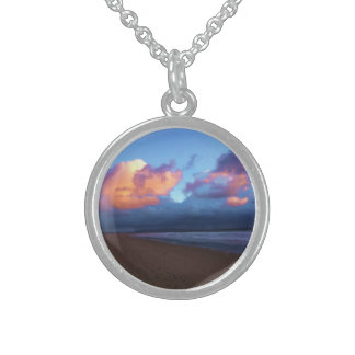 Stormy Day at the Beach Sterling Silver Necklace