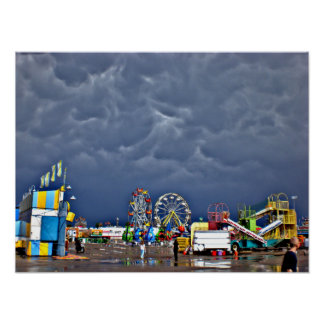 Stormy Day at the Fair Poster