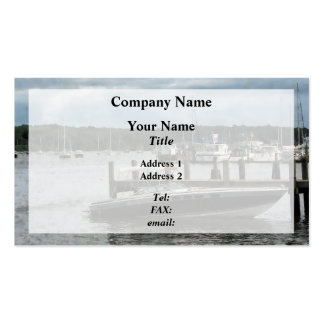 Stormy Day at the Harbor Essex CT Business Card Templates