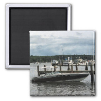 Stormy Day at the Harbor Essex CT Refrigerator Magnets