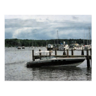 Stormy Day at the Harbor Essex CT Postcard