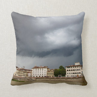 Stormy day in Florence, Italy Throw Pillow