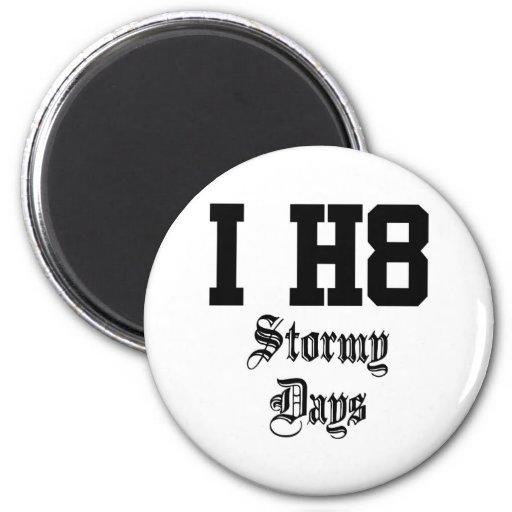 stormy days 2 inch round magnet