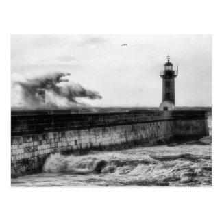 Stormy days... postcard
