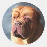 Stormy Dogue - Dogue de Bordeaux Art Classic Round Sticker