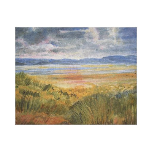 Stormy Dunes Stretched Canvas Prints