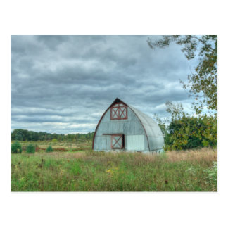 Stormy Fall Day on the Farm Postcard