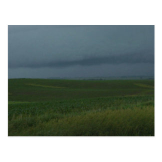 Stormy field postcard