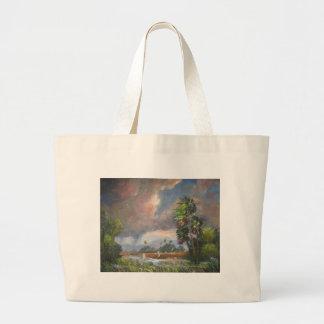 Stormy Florida Backwoods Large Tote Bag