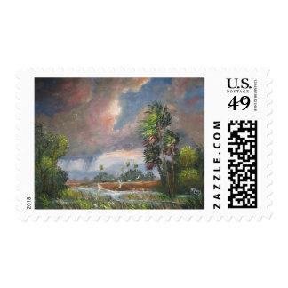 Stormy Florida Backwoods Postage Stamp