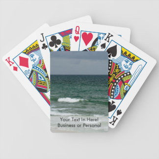 Stormy florida green ocean bicycle playing cards
