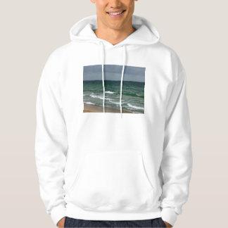 Stormy florida green ocean hoodie
