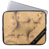 Stormy Fractal Personal Laptop Sleeve