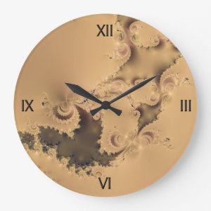 Stormy Fractal Wall Clock
