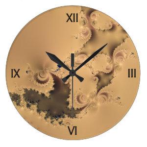 Stormy Fractal Wall Clock